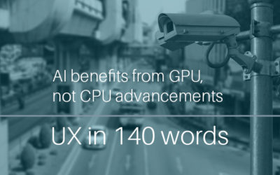 AI benefits from GPU, not CPU advancements