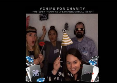 Chips for Charity GIF booth